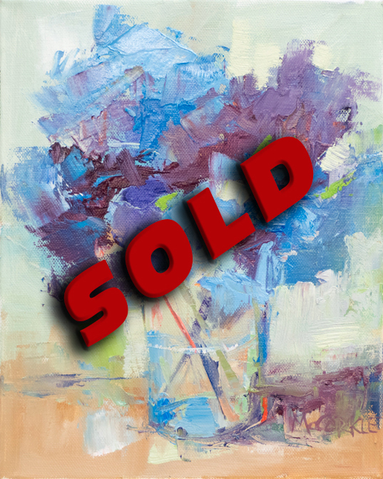 Blue-Hydrangeas-in-Vase-SOLD