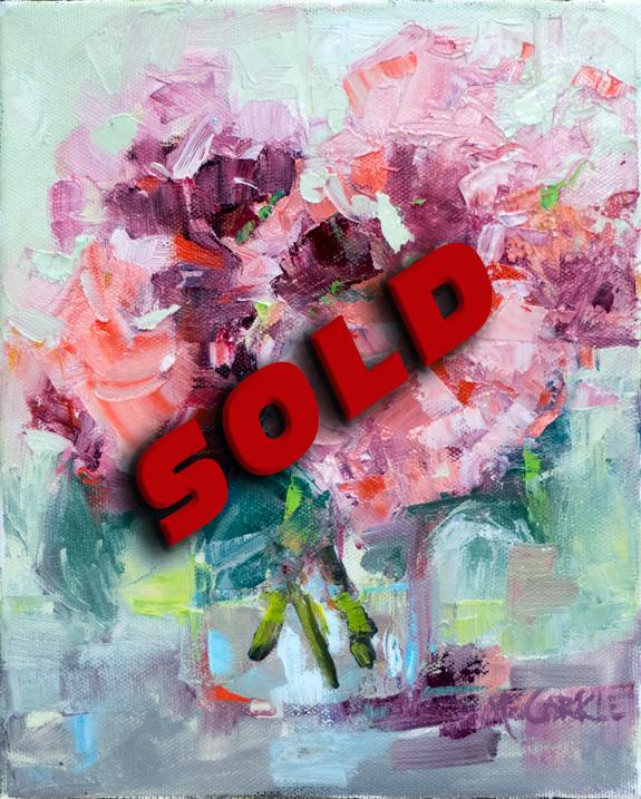 Pink-Hydrangeas-in-Vase-SOLD